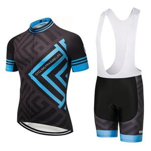 2019 azul jérsei Quadro equipe de ciclismo shorts da bicicleta 9D gel pad definidos sobycle MTB Ropa Ciclismo mens QUICK DRY bicicleta Maillot desgaste