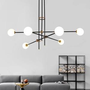 Salon Loft Hall İç Nordic Decor Yemek Bedroom için Çağdaş Minimalist Tasarım LED Diyot Cam Topu Avize
