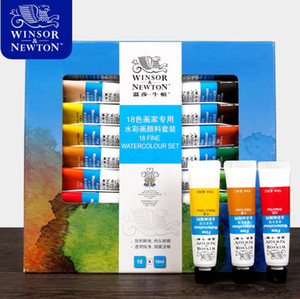 Winsor&Newton 12 18 24Colors Watercolor Paint High Quality Transparent Watercolor Pigment For Artist School Student Acuarelas