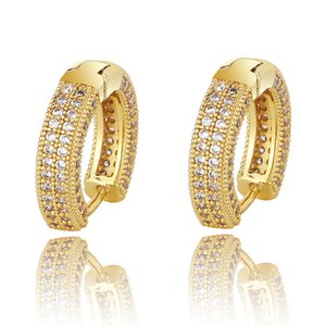 Hiphop Designer Earrings Rapper Hop Jewelry Women Out Earing Bling Luxury Iced Diamond Hip Earings Stud Earring Charms Men Silver Gold Jvxc