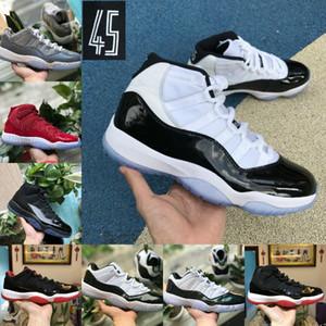 الجملة 2020 كونكورد العليا 45 11S كرة السلة للرجال أحذية نسائية رخيصة COOL GRAY كاب ثوب PRM الوريثة رياضة الأحمر شيكاغو Retroes أحذية الرياضة 11S
