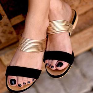 AKEXIYA donne piatto sandali vendita calda Nuovo Amazon Explosion pistoni delle donne di modo di tendenza sandali e ciabatte