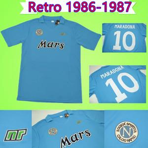Napoli 1986 1987 Carnevale Maradona RETRO Napoli Maglia calcio 86 camicia 87 di calcio classico commemorare collezione vintage NAPOLES Maglia