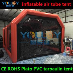 في الهواء الطلق المحمولة غطاء السيارة نفخ رذاذ الطلاء كشك في CE بنفايات القماش المشمع PVC