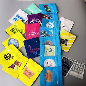 Hot 20 Tipos GALLETAS California SF 3,5 g bolsas de Mylar blanca Runtz GEORGIA PIE MINNTZ Cake Mix táctil de embalaje bolsa de piel de limón nade
