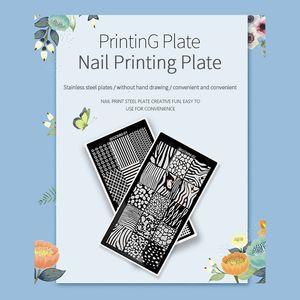 Nail Stamping Plates Floral Pattern Nail Printing Stencil Lace Template DIY Print Stencils Design Art Tools