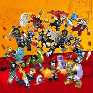 Marvel yapı taşları Avengers Mini Süper Kahraman Süper Kahraman Iron Man Setleri Demir Kaptan Amerika Black Widow Thor Hulk Blokla ...
