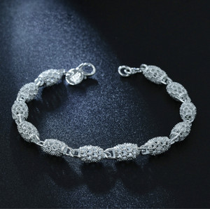 Luxury Bracelet For Women Color Silver Bracelets Bridal Wedding Fine Jewelry Gift Charms Bracelets