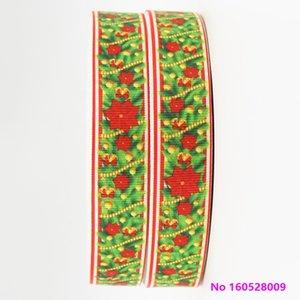 ribbon 7 8inch 22mm 160528009 Christmas Pattern Holiday Style cartoon grosgrain ribbon 50yds roll free shipping for headband hair tie