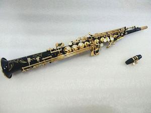 saxo soprano clave S901 Instrumento bemol musicl Negro Oro marca nuevo Japón Yanagisawa Soprano saxofón con el caso