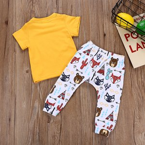 Designer bébé vêtements costumes garçons chauds été filles t chemises pantalons lettre imprimer garçon tops pantalons mode chemises occasionnels pantalons ensembles de manches longues