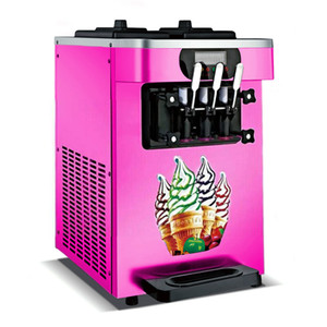 Countertop Stainless Steel Commercial 110v 60Hz 220v 50Hz Electric 3 Flavor Soft Ice Cream Maker Machine