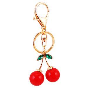 Gules Cherry Key Buckle Металлические Фрукты Автомобильные Ключи Цепи Прекрасные Экологически чистые Брелки Мода Продают Хорошо 3 5rp J1