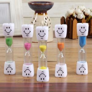 Reloj de arena 3 Minutos Sonriendo regalos de la cara El reloj de arena decorativo del hogar del cepillo de dientes de los niños reloj de arena del reloj de DHL Adornos de Navidad WX9-1103