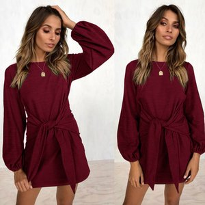 2019 new fashion popular Women's New Fashion Autumn and Winter New Leisure Band Long Sleeve Dresses