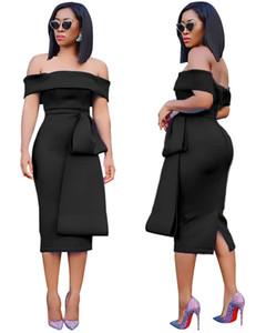 Sexy Women Casual Vestidos Moda Painéis Magro Corte Neck Designer Backless Dividir Womens Vestidos fêmeas roupa