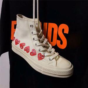 Homens Comme des Garçons Jogar Chuck 1970 cavans Sneakers For Men S Tayler vulcanizados Sapatos Homem Skateboarding Womens Skate Mulheres Corações Mulher