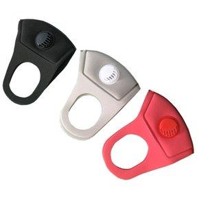 Máscara unisex esponja a prueba de polvo PM 2.5 Contaminación de la media cara de la boca con la respiración correas anchas reutilizable lavable mufla respirador mayorista