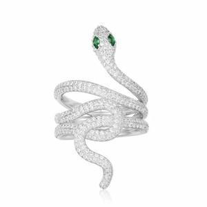 Anéis para as mulheres anel espírito cobra mídia design jóias brincos bonito prata moda jóias 2019 nova tendência