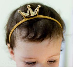 2019 Presentes Girl Boy novíssimo Unisex criança bebê Crown Hairband Elastic Nylon Headband Headwear Crianças Headband bebê crianças