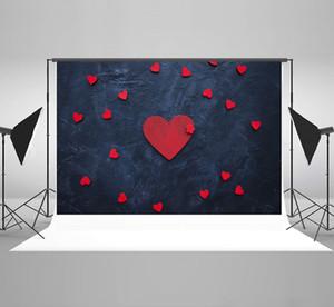 Fotoğraf için Düğün Siyah Duvar Arka Plan için Kate Sevgililer Gününüz Kutlu Olsun Fotoğrafçılık Backdrop Kırmızı Aşk Kalp Fotoğraf Arka planında