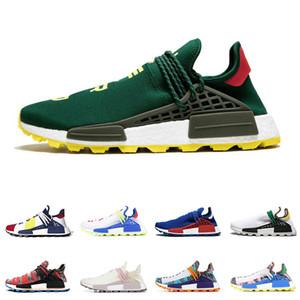 adidas Günstige HU Pharrell WILLIAMS Human Race Männer Frauen Laufschuhe NERD BLACK BLUE GREEN Creme SOLAR PACK Herren Trainer Sport Turnschuhe