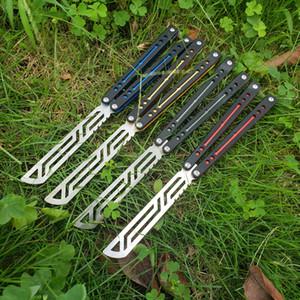 Balisong papağan G10 antrenman eğitmen bıçak değil keskin jilt bıçak toplama bıçak burç sistemi Noel hediyesi katlanır