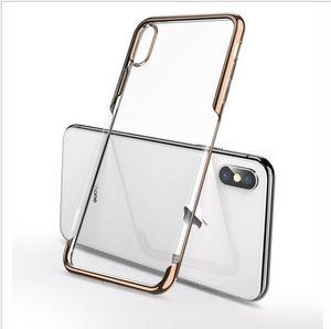 2019 nova chegada suave phone case claro para iphoneXSMAX cobre Anti queda galvanizado casos de telefone móvel para o iphone 7 8 plus