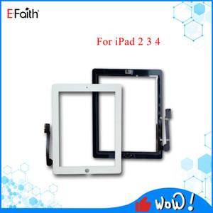 Tela preta e branca boa qualidade Touch Panel Vidro com digitador Botões iPads adesivo para 2 3 4 substituições de peças
