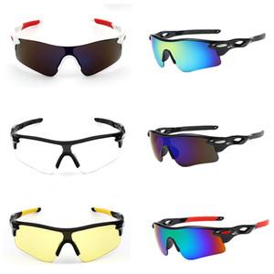 Спорт на открытом воздухе Велоспорт Конструкторы Eyewears для мужчин Женщины поляризатор Красочные солнечные очки Серый Красный Синий Желтый Вождение велосипед очки