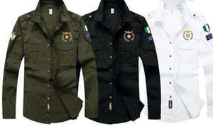 Hot Seal Tough man Army Air force bordado manga larga polo camisas verano algodón Army polo camisetas masculinas Polos Ropa de Hombre