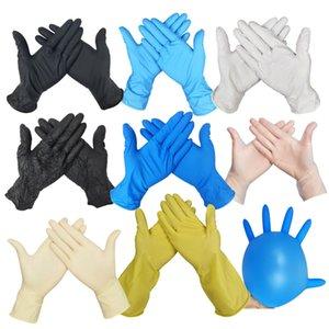 libre navire couleur bleu gants à usage unique gants jetables en plastique des gants en nitrile de preuve de la poussière résistant à l'usure entretien ménager
