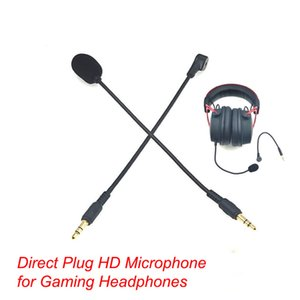 Microphones 3.5mm Mono  Stereo  4 Pole HD Microphone for Gaming Headphones Direct Plug Condenser Microphone For Bluetooth Headsets 190mm