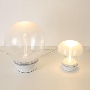 Tabla LED moderna de cristal claro de la lámpara del arte en barra de escritorio de la lámpara de noche Decoración Fixture TA013