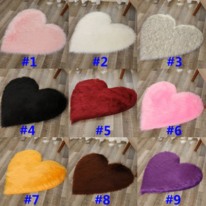 Plush Love Heart Carpets Fabric Blanket Soft Sofa Cushion Living Room Bedroom Carpets Decoration Home Textiles HH9-2654