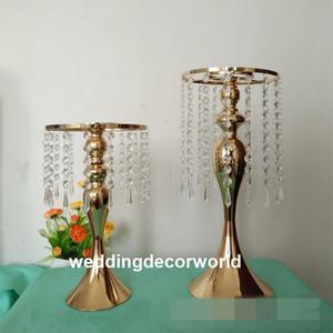 Роскошные свадебные центральные золото серебро двойной боковой проход Кристалл декор для свадьбы T станции украшения decor454