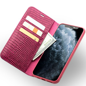 Couro elegante capa para o iPhone 11 Pro Max Estojo de protecção com slot para cartão por Mulheres