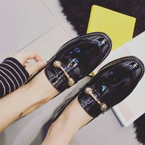 Chaussure de simple pour femme Pretty2019 Clasp Annuity Square All-Match brut avec pied neuf