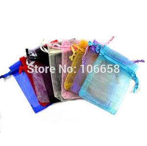 50pcs / lot 7x9cm 9x12cm sacchetti dell'imballaggio 10x15cm 13x18cm gioielleria regalo Borse da sposa Drawable Organza