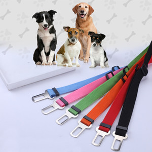 Dog Pet Car Seat Safety Belt Dog regolabile cintura di cucciolo dell'animale domestico Harness Restraint cintura di sicurezza del cane Forniture guinzaglio Accessori per animali BH3623 TQQ