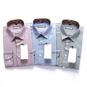 mens designer dress shirts Men Shirts Long Sleeve Mens Dress Shirts Cotton White Black Shirt Men Shirt Plus Size Slim Fit Chemise Homme