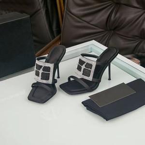 Primavera 2020 zapatos de diseño superior de la manera de cuero verdadera reina de diamante zapatillas de tacones altos zapatos de la boda vestido de las mujeres de 10 cm zapatos de diamante 0101