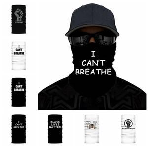 Je ne peux pas respirer crème solaire Coiffures écharpe été en plein air équitation magie noire Masque vie Matière visage anti-poussière Party Masques RRA3166