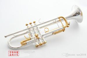 NUEVO BACH LT180S-72 BB TROMPET INSTRUMENTS INSTRUMENTE SUPERFICIA Dorado y plateado BRASS BB BB TROMETA Instrumento musical Envío gratis