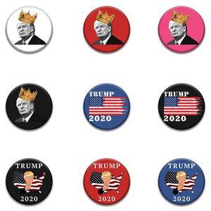 Trump commemorative distintivo 20 nuovi stili 2020 elezioni americane Supplies US Flag di qualità Stock alimentazione Trump Badge EEA1673