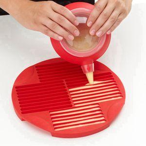 Food Grade Silicone dedo Forma Biscuit Moldes DIY Chocolate Mold Lollipop longa faixa do cozimento biscoito bandeja RRA3091