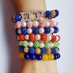 Sorority Fraternity Sigma Gamma Rho multilayer bracelet Jewelry accessories DIY charm Beads Bracelet