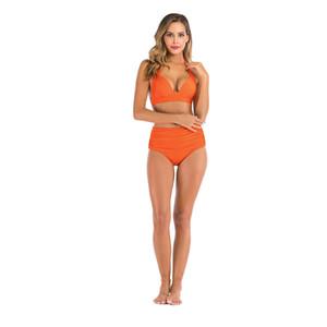 2020 Nova Tulsa Swimsuits Cluster Skirt Bikini três peças Maiô Natação Big Boobs menina # 132