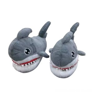 Soft Shark Toy Shoes Slipper Super Animal Funny Shoes for Men Women Warm Soft Bottom Home Indoor Floor Furry Slippers Plush Backpacks Stuffe