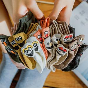 Nuevo 5PCS / Set de 10 colores deportes de las mujeres Calcetines Crew Lote corto tobillo escotados ocasionales calcetines de algodón